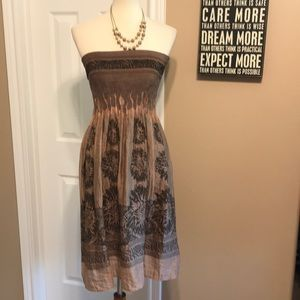 NWOT Nordstrom Lapis strapless dress Osfa Small-XL